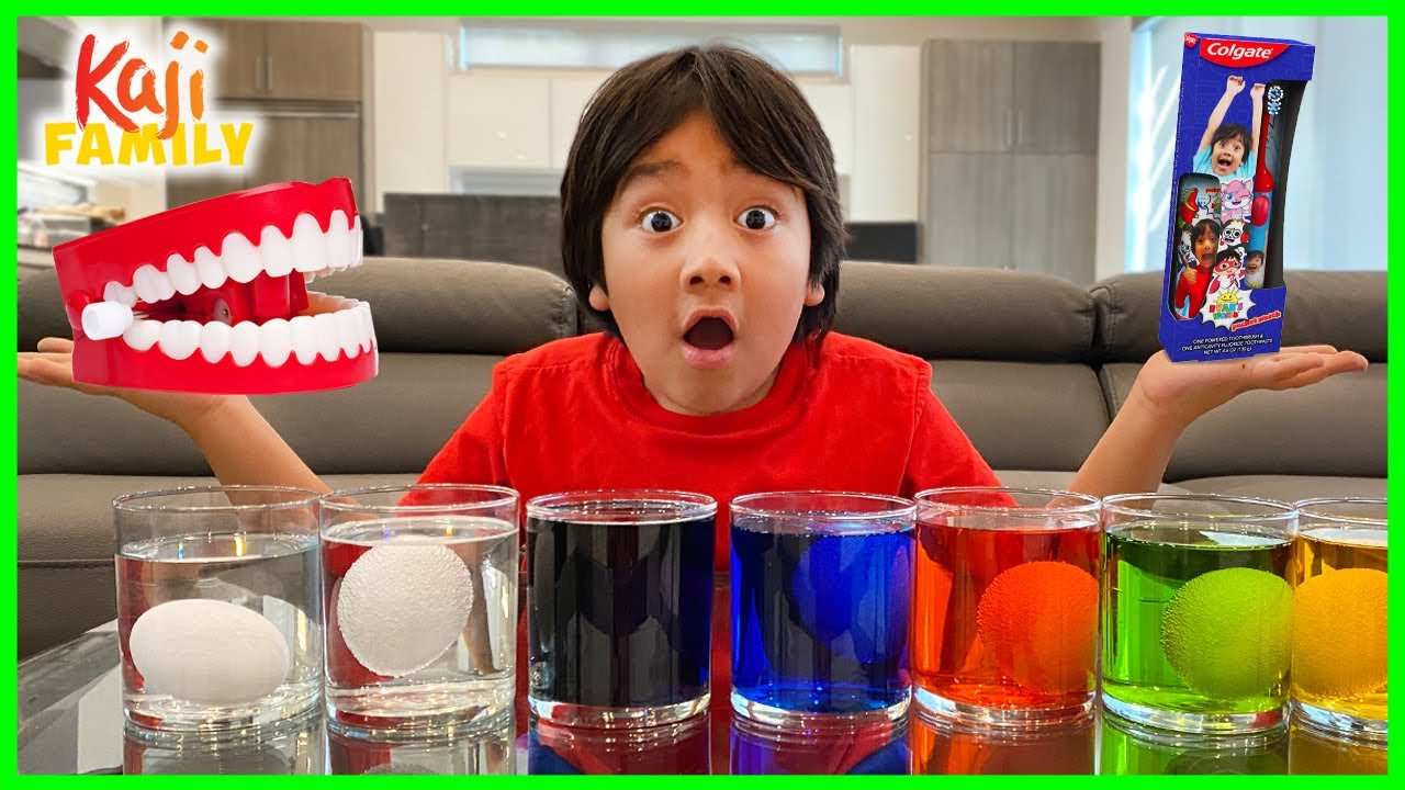 What happens if you don't brush your teeth egg experiment for kids!!!!