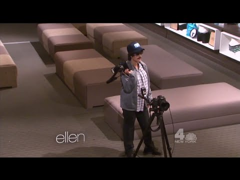 Justin Bieber posing as a photographer Prank on The Ellen DeGeneres Show - September 15, 2015