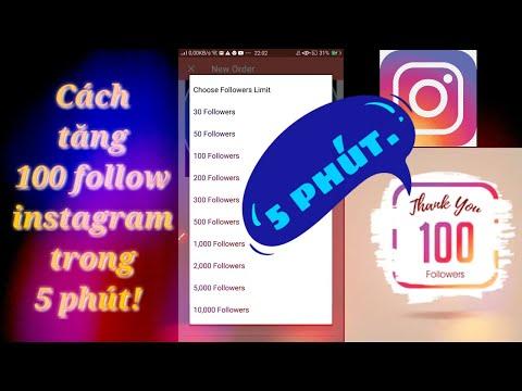 cách hack follow instagram trên máy tính - Cách tăng 100 follow instagram trong 5 phút ! | Minh kiet tg
