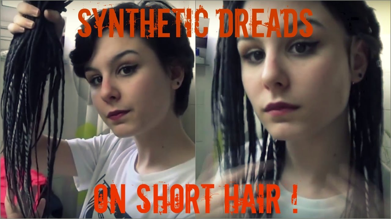 Synthetic Dreads On Short Hair Youtube