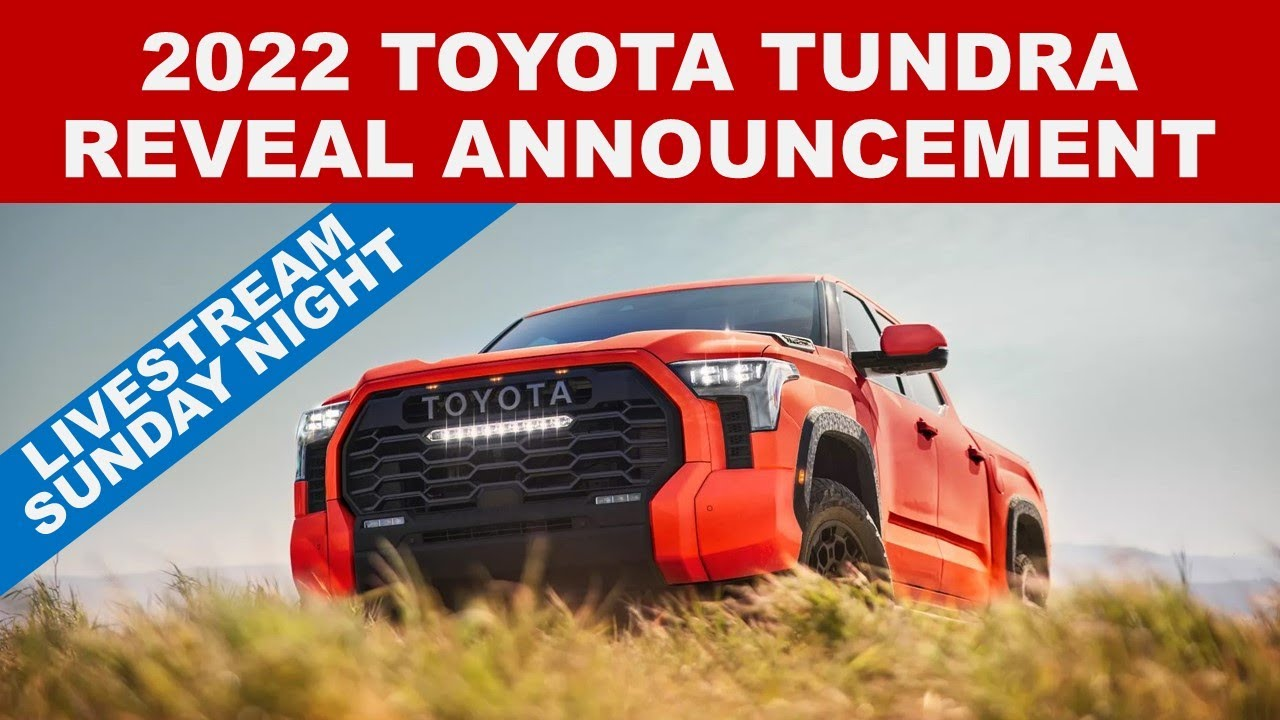 CASearch5Avatar image2022 TOYOTA TUNDRA ANNOUNCEMENT - What is happening Sunday night? Pl