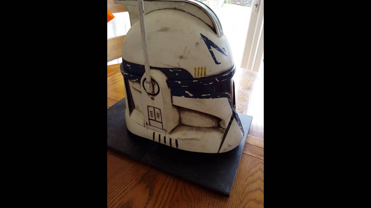 Captain Rex Hasbro Clone trooper helmet. - YouTube