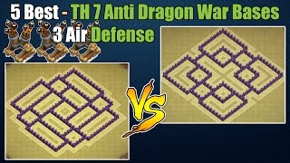 Clash of Clans - Top 5 Best Town hall 7 (Th7) War Base & Trophy Base ANTi Dragon with 3 Air Defenses