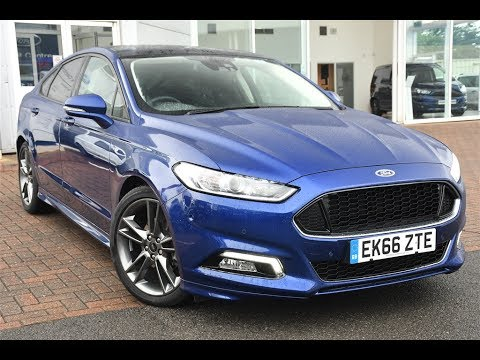 used ford mondeo 2 0 tdci 180 st line 5dr deep impact blue 2016 youtube. Black Bedroom Furniture Sets. Home Design Ideas