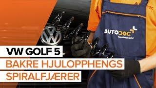 Se videoguiden vår om feilsøking i Spiralfjærer VW