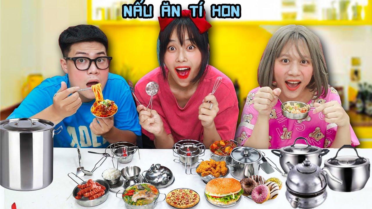 Thử Thách Nấu Ăn Mini Bằng Bộ Nồi Tí Hon - Mei Khoai Tây