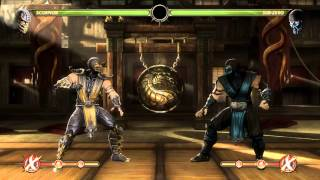 Mortal Kombat 9 - Scorpion комбо урок