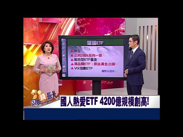 只要錢長大*鄭明娟【國人熱愛ETF 4200億規模創高!】20180623-1(羅際夫×朱岳中)