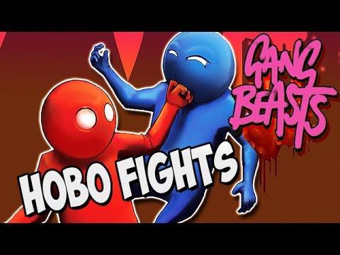 Gang Beasts German Gameplay - Harte Obdachlosen Fights