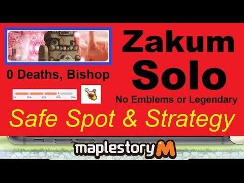 Solo Zakum -Safe Spot- & Strategy (0 Deaths, Bishop, No Legendary or Emblems) Maplestory M
