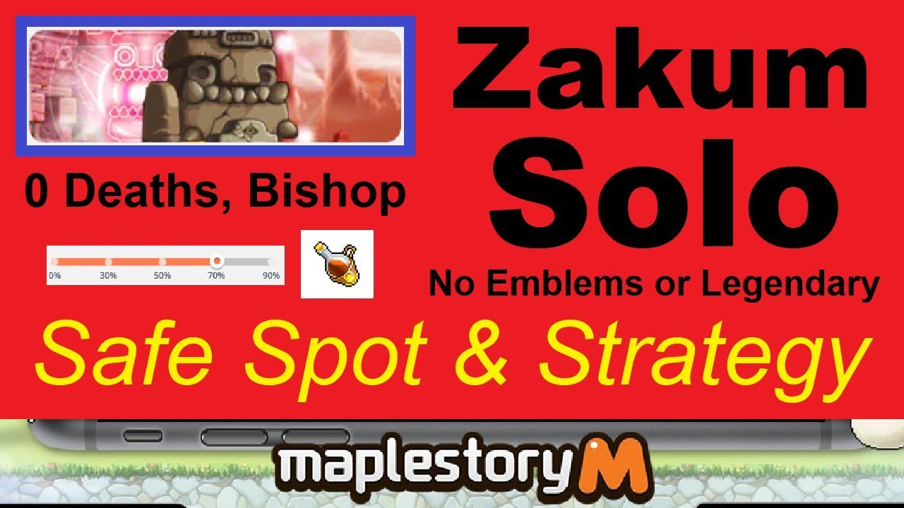 Repeat Solo Zakum -Safe Spot- & Strategy (0 Deaths, Bishop, No