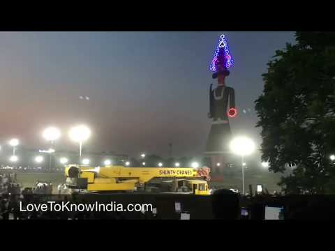 Tallest Ravan Burn Dahan Dussehra Panchkula 2018
