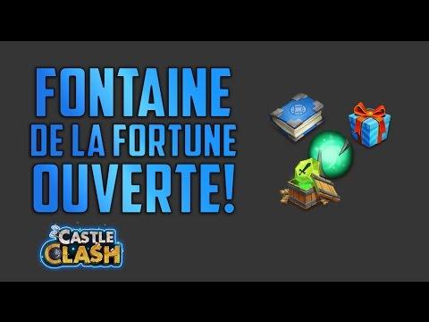 [Castle Clash] Recompenses Fontaine De La Fortune