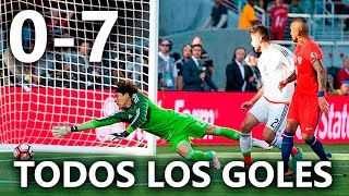 México vs Chile 0-7 RESUMEN & GOLES HD / México 0-7 Chile 2016 HD