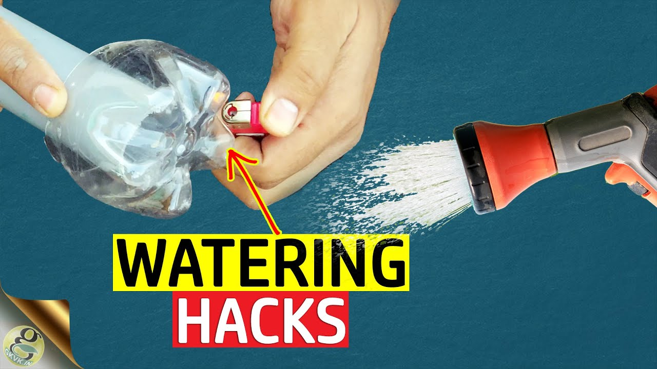 20 BEST GARDEN HACKS TO WATER YOUR PLANTS ON A VACATION   PLASTIC BOTTLE  HACKS FOR GARDEN