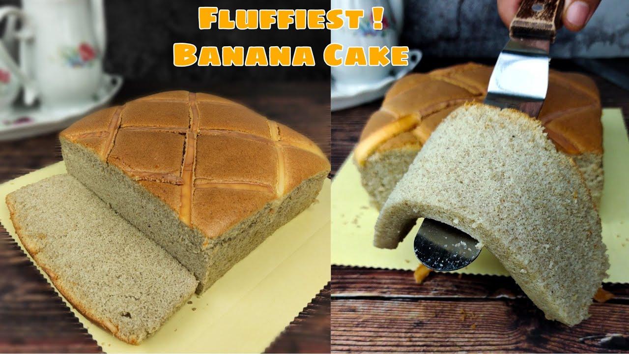 Banana Ogura Cake Fluffy | Resepi mudah