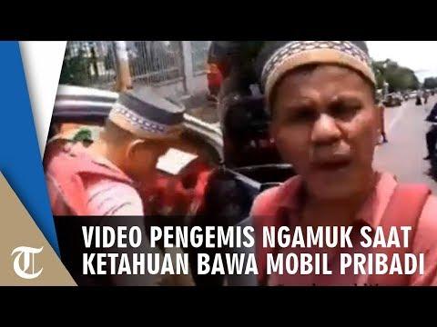 Ketahuan Bawa Mobil Pribadi, Pengemis Ngamuk Saat Direkam Warga: Jangan Urus Saya!