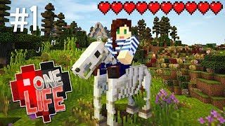 LUCKY SKELETON HORSE! - ONE LIFE MINECRAFT SMP (EP.1)