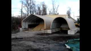 12x20 Roundtop Portable Garage Installation In Wallingford, Ct.
