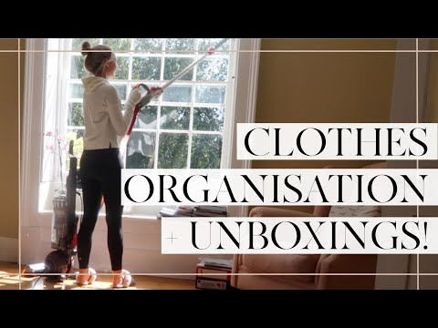 ORGANISING MY CLOTHES + HOME DELIVERIES // Moving Vlogs Episode 15 // Fashion Mumblr