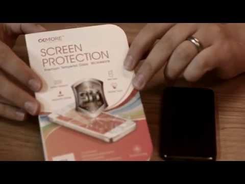 Panserglas montering på iPhone 5 - det nye beskyttelsesfilm