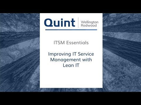 Video: Boost Your IT with Lean IT! Improving IT Service Management with Lean IT