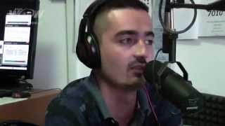 Freestylista Kelso rapoval v živom vysielaní - záznam rozhovoru
