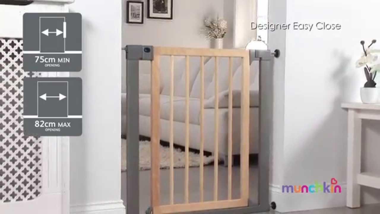 Valla infantil de seguridad designer madera easy close - Valla de seguridad infantil ...