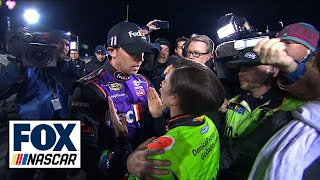 Denny Hamlin and Danica Patrick Post-Race Argument - Budweiser Duel 2 - 2015 NASCAR Sprint Cup