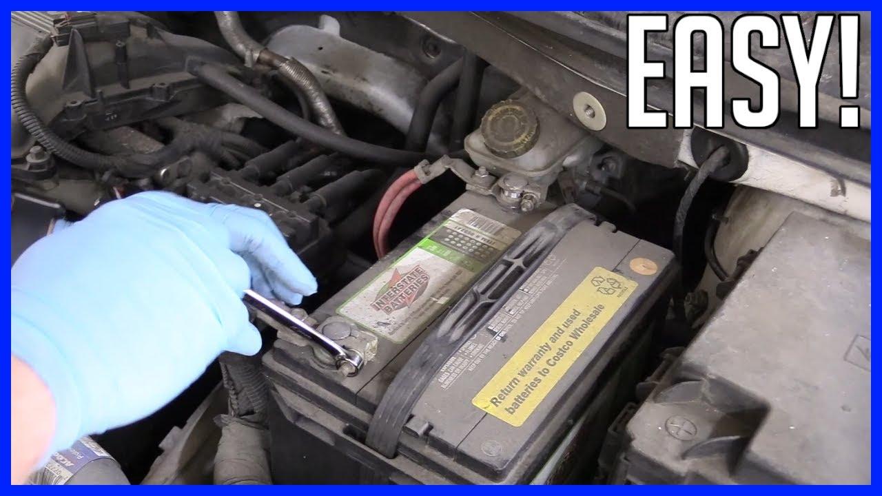 dodge grand caravan battery Battery Replacement Dodge Grand Caravan 2-2 2.2L V2 - EASY!