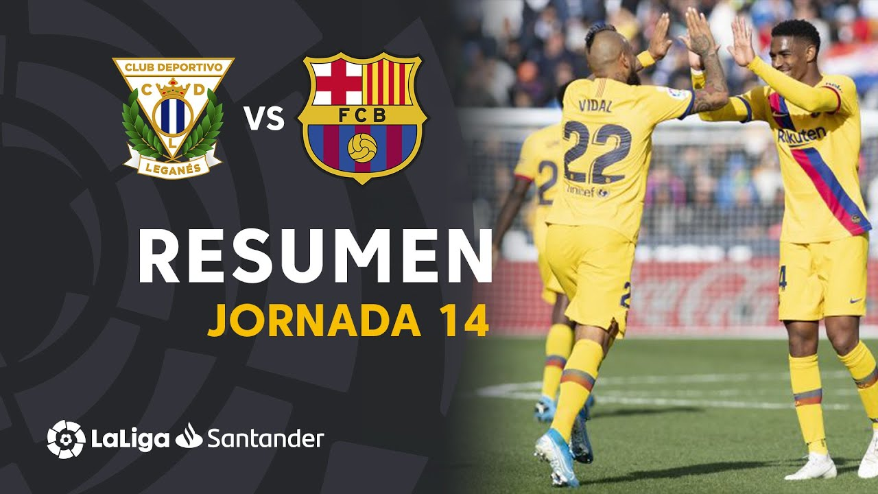 Resumen de CD Leganés vs FC Barcelona (1-2)