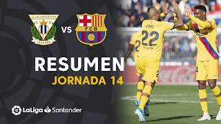 Resumen de CD Leganés vs FC Barcelona (1-2)