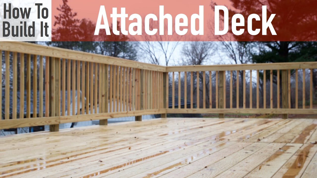 building an attached deck