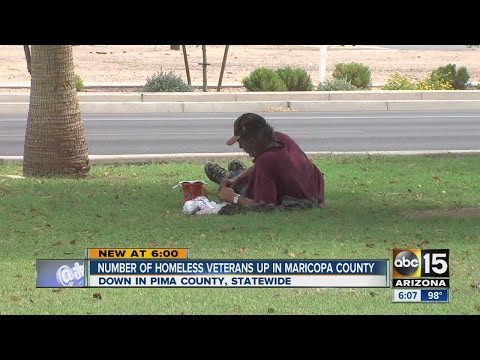 Homeless veteran population decreases nationwide, but not in Phoenix metro area