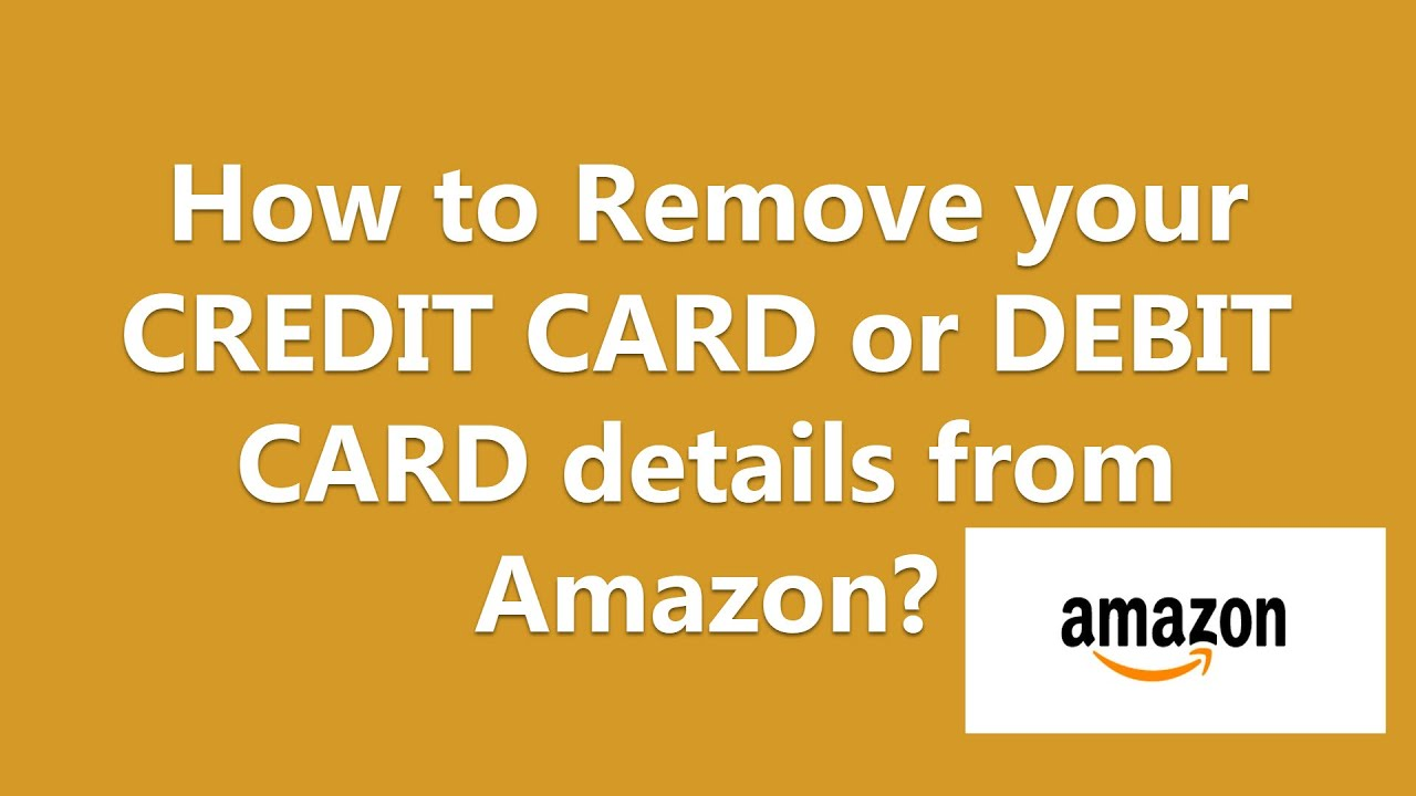 how to delete a credit card from amazon