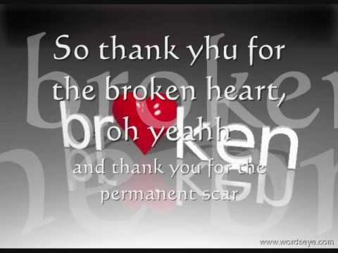 J Rice- Thank You for the Broken Heart [lyrics] [2010]
