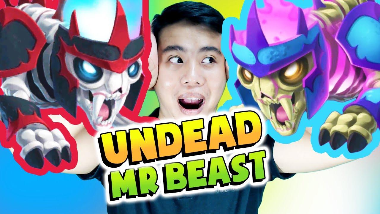 Monster Legends: Undead Mr. Beast level 100 - Mishka Twin