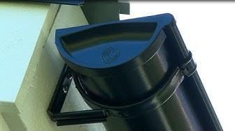Vesikourujen ja syöksyputkien asennus - Lindab Rainline sadevesijärjestelmä