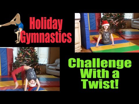 HOLIDAY GYMNASTICS CHALLENGE 🤸  - (DON'T LOSE YOUR SANTA HAT GAME 🎅!)