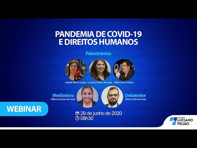 Webinar – PANDEMIA DE COVID-19 E DIREITOS HUMANOS