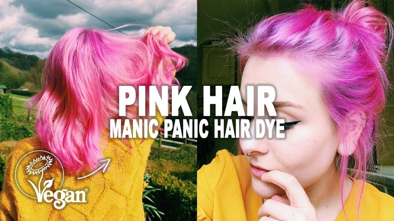 Dying My Hair Pink Manic Panic Hot Hot Pink Hair Dye Youtube