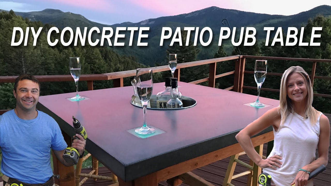 How To Make A Concrete Patio Pub Table With Led Lights And Cooler