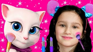 My Talking Angela | Alice plays with funny cats | Funny Stories for Kids by Alice and TOYS