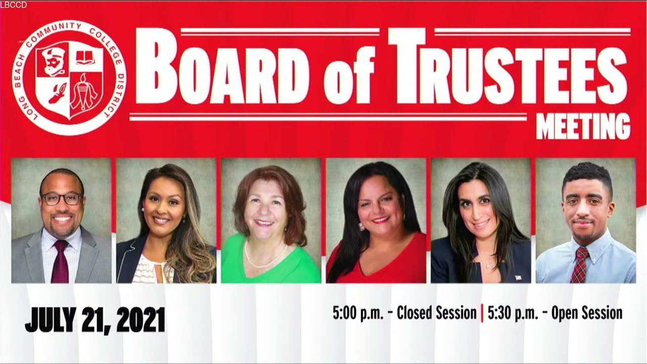LBCCD Board of Trustees - Special Meeting - July 21, 2021