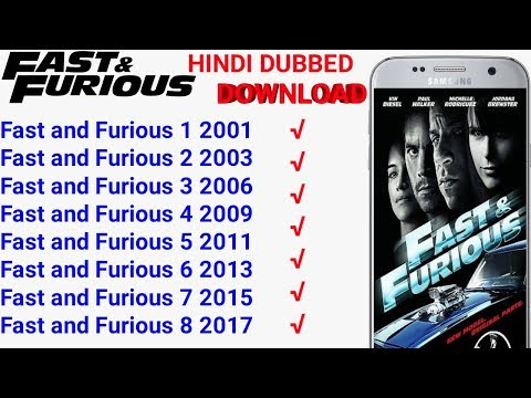 All Part Hollywood Fast And Furious Movies