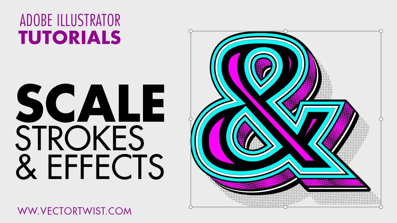 How To Scale strokes and effects proportionally in