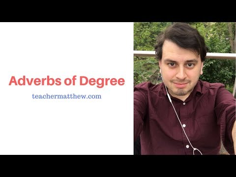 English Grammar: Adverbs of Degree