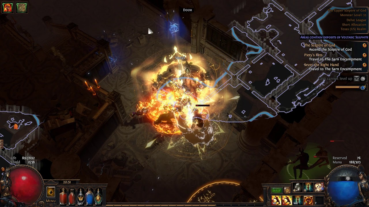 POE 3 4 Marauder Chieftain Blade Vortex,Consecrated Path