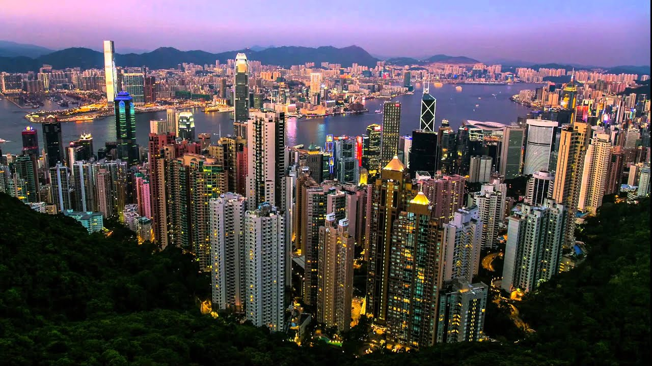 Hong Kong time-lapse: Magic hour and sunset at Victoria ...