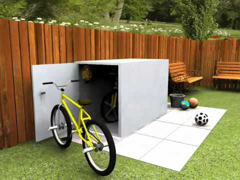 Bicycle storage area - Keep your bikes stored safely with this bike shed.mp4